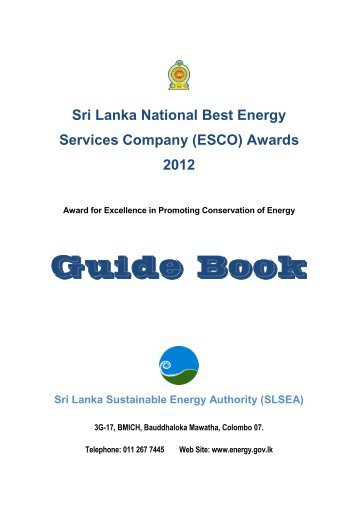 Guide Book – Sri Lanka National Energy Efficiency Award