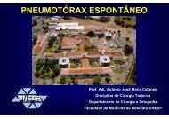 PNEUMOTÓRAX ESPONTÂNEO - Unesp