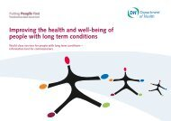 Improving the health and well-being of people with long term ...