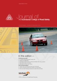 August 2006 Vol 17 No 3 - Australasian College of Road Safety