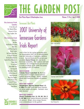 April - UT Gardens - The University of Tennessee
