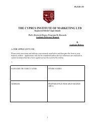 Ph.D. RA 83 - The Cyprus Institute of Marketing
