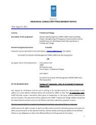 Early Warning System - UNDP Trinidad and Tobago