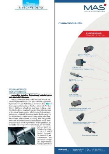 mehrkante längs- und stechdrehen - MAS Tools & Engineering