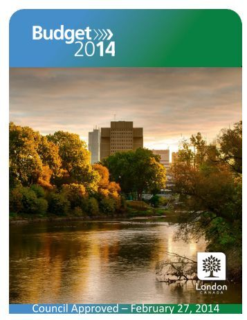 2014 COUNCIL APPROVED BUDGET