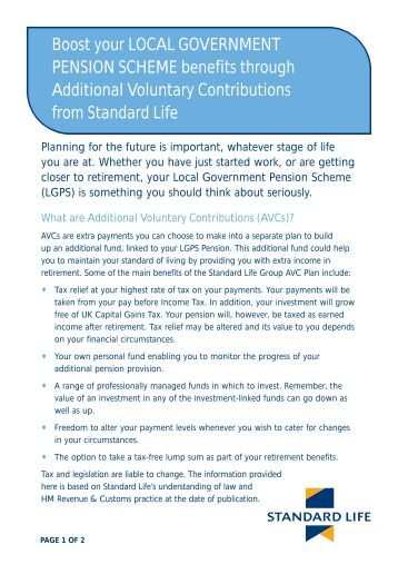 Boost your LOCAL GOVERNMENT PENSION SCHEME benefits ...