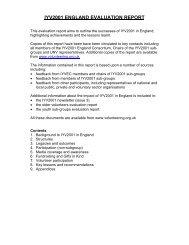 IYV2001 ENGLAND EVALUATION REPORT - World Volunteer Web
