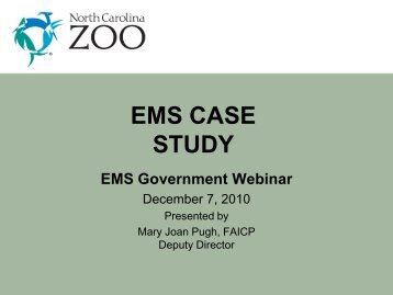 NC Zoo EMS Case Study - NC Project Green