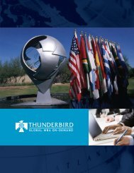 global mba on-demand - Thunderbird School of Global Management