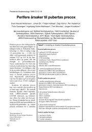 Perifere årsaker til pubertas precox S. - Pediatrisk Endokrinologi