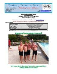 Newsletter No 7 March 14 2013 - Sunbury Primary School