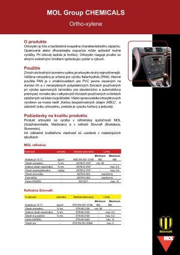 Ortoxylén (pdf, 252 kB) - Slovnaft