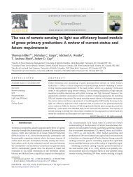 The use of remote sensing in light use efficiency based models of ...