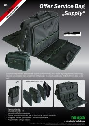 "Offer Service Bag ""Supply"" - Haupa"
