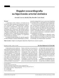 Doppler - Ecocardiografia na Hipertensão Arterial sistêmica