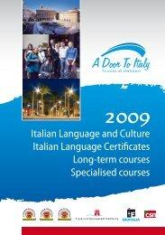 Italian Language and Culture Italian Language Certificates Long ...
