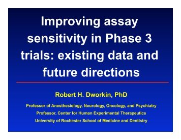 Improving Assay Sensitivity In Phase 3 Trials: Existing Data - immpact