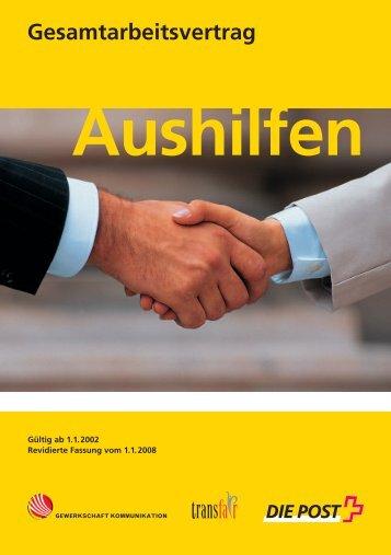 Post: Gesamtarbeitsvertrag Aushilfen 2002, Ausgabe 2008