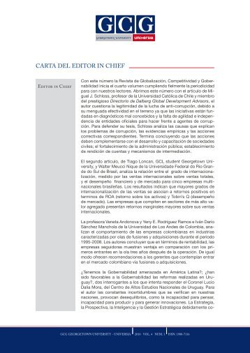 CARTA DEL EDITOR IN CHIEF - GCG: Revista de Globalización ...