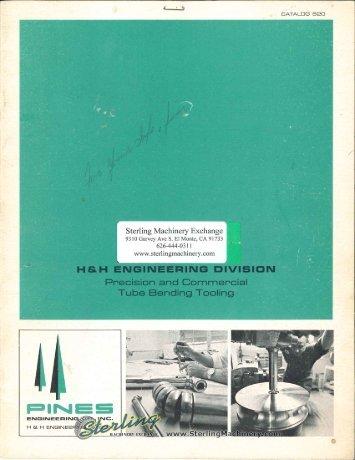 Pines Tube Bending Tooling Brochure - Sterling Machinery