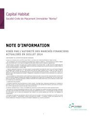 Note d'information - Capital Habitat - BNP Paribas REIM