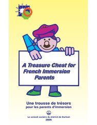 A Treasure Chest for French Immersion Parents A Treasure Chest ...