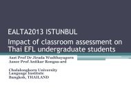 The impact of classroom assessment on Thai EFL ... - ealta