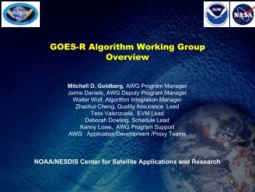 GOES-R Algorithm Working Group Overview