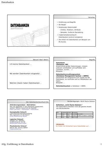 Datenbank Grundlagen Handzettel [PDF | 150KB]