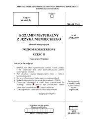 EGZAMIN MATURALNY Z JĘZYKA NIEMIECKIEGO - dlaStudenta.pl