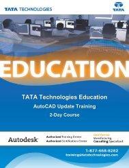 TATA Technologies Education AutoCAD Update