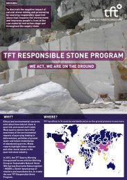TFT RESPONSIBLE STONE PROGRAM