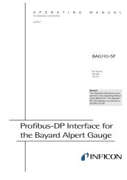 Profibus-DP Interface for the Bayard Alpert Gauge - Testbourne Ltd