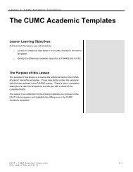 The CUMC Academic Templates - Columbia University