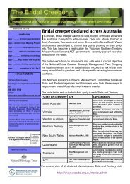 The Bridal Creeper Newsletter Vol. 2, No. 1 March ... - Weeds Australia