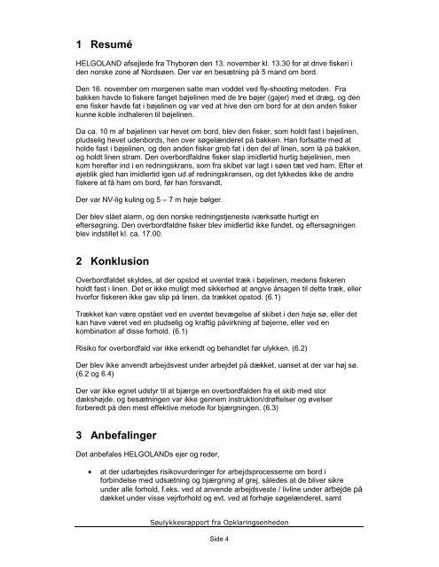 HELGOLAND rapport - Søfartsstyrelsen