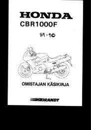 CBR1000F 1989-90 käsikirja (.pdf, 1.21 MB) - Honda