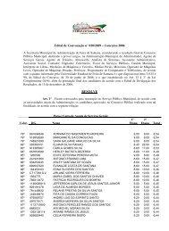 Edital de Convocação 020/09 - Prefeitura Municipal de Feira de ...