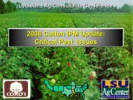 IPM Considerations for Double-Cropping Cotton & Wheat