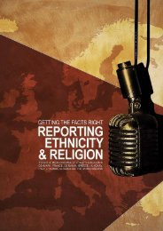 Reporting ethnicity and religion - The Ethical Journalism Initiative