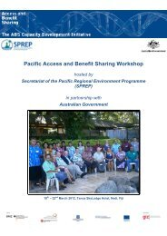 Pacific - ABS Capacity Development Initiative