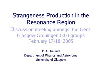 Strangeness Production in the Resonance Region - Nuclear Physics ...