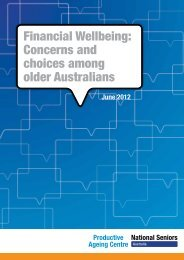 Financial Wellbeing - Productive Ageing Centre
