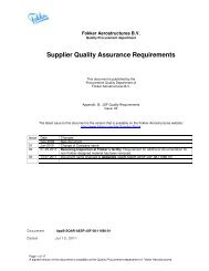Supplier Quality Assurance Requirements - Fokker