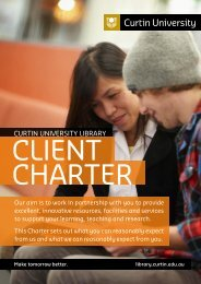 Client Charter [pdf 233KB] - Curtin University Library