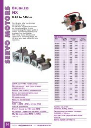 Download NX motor brochure in PDF format - Parvex