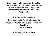 Vortrag von Dr. Breuer-Schaumann - PTK Bayern