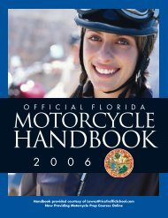 Includes Moped Information - Florida Safety Council