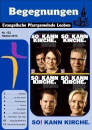 Ausgabe Herbst 2013 - Evangelische Pfarrgemeinde Leoben