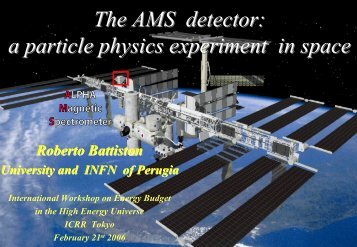 The AMS detector: a particle physics experiment in space
